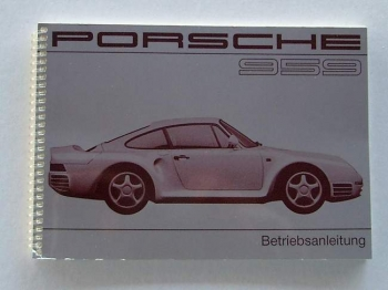 Operating instructions for Porsche 959