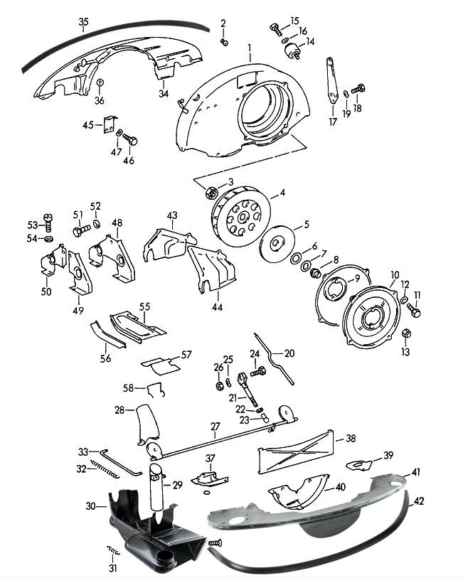 Sportwagen Eckert - Luftführung für Porsche 356 A-C, kleine Heizung ...