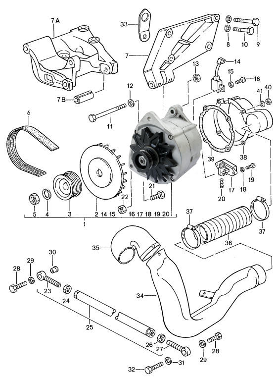 Picture Of The Mgb Alternator Wiring Harnes
