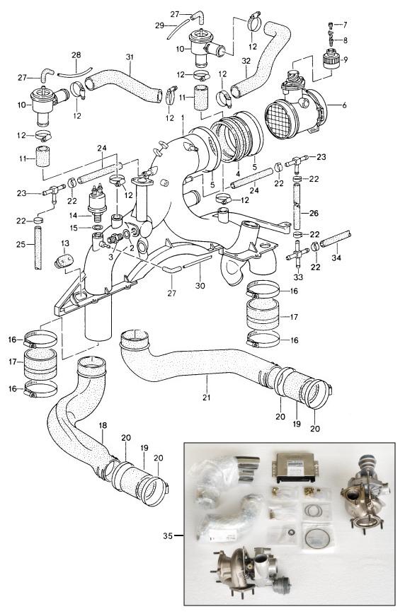 Sportwagen Eckert Retrofit Kit Engine For Porsche 993 Turbo 9498. Porsche. Porsche Performance Engine Diagram At Scoala.co