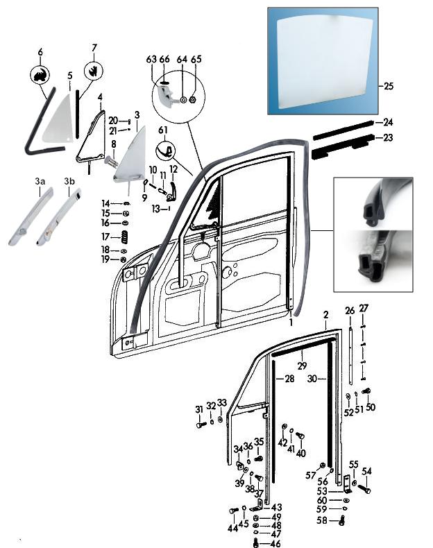 Sportwagen Eckert - Coupe Türfensterrahmen Seitenscheibe ...