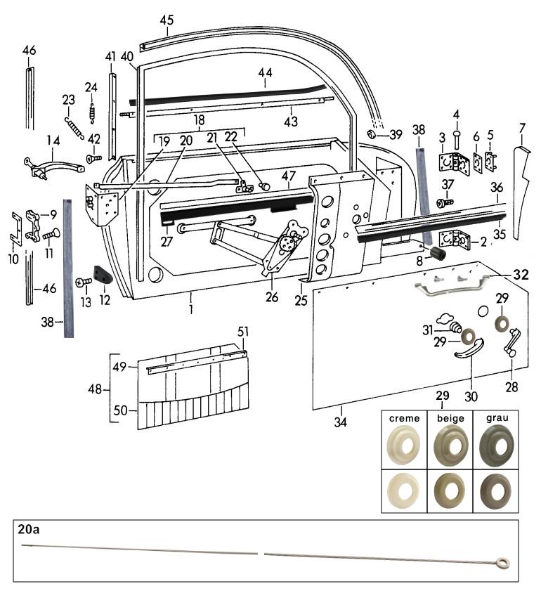 sportwagen eckert wire pull for porsche 356 a b c 64453156101 rh sportwagen eckert com 1968 Porsche 912 Wiring-Diagram Porsche 911 Wiring -Diagram