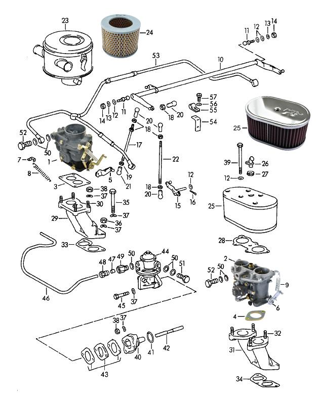 sportwagen eckert carburettor left zenith 32ndix for porsche 356 porsche 356 600 engine diagram please click your part in the list below, to get more informations and the part number
