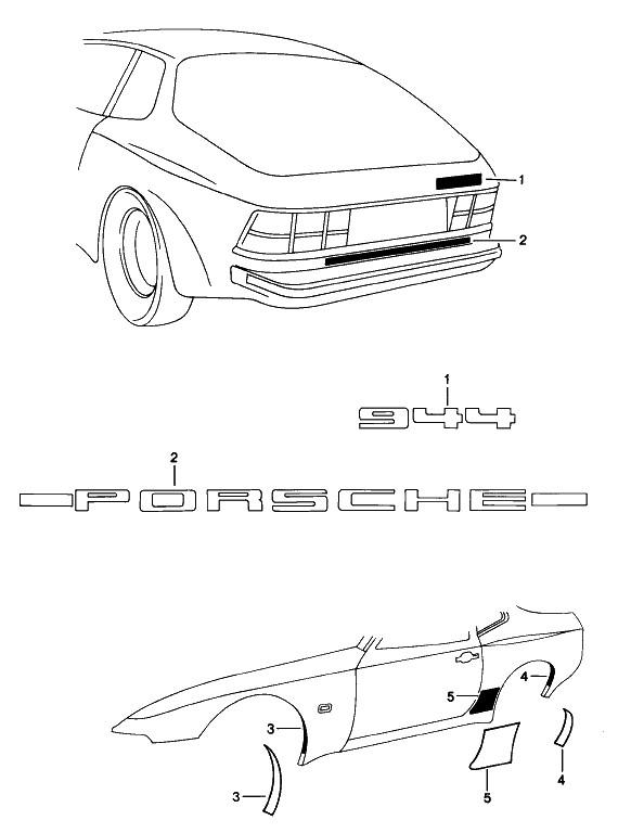 Porsche 944 Driving Light