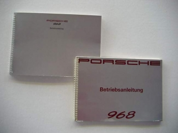 Operating instructions for Porsche 968